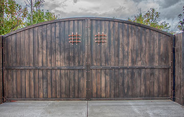 wood gates design